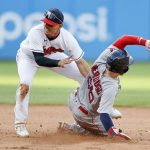 Rafael Devers homers twice, but Boston Red Sox bullpen stumbles late in 7-5 loss to Cleveland Indians